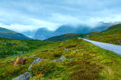 Summer mountain cloudy landscape (Norway). Stock Photography