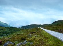 Summer mountain cloudy  landscape (Norway) Stock Photography