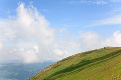 Summer mountain cloudy landscape (Ukraine) Stock Photography