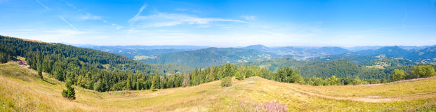 Summer mountain country panorama Royalty Free Stock Photos