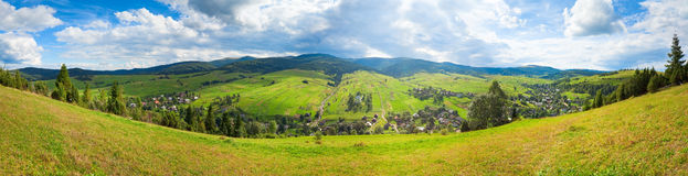 Summer mountain country panorama. Royalty Free Stock Photos