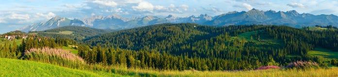 Summer mountain country panorama. Stock Photos