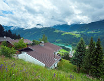 Summer mountain country view. Royalty Free Stock Photography