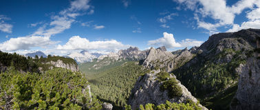 Summer mountain ladscape panorama. Dolomites Alps, Italy royalty free stock photos