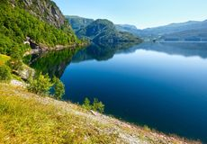 Summer mountain lake Suldalsvatn (Norway) Stock Images