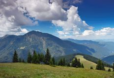 Summer mountain landscape. The end of summer. The picture is made in mountains Carpathians, Ukraine. Ahead mountain Petrosul, the Marmarossky file, on border Royalty Free Stock Image