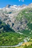 Summer mountain landscape around Gletsch, Switzerland Royalty Free Stock Photo