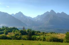 Summer mountain landscape. Beautiful view on the High Tatra Mountains, Slovakia Royalty Free Stock Photos