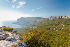 Summer mountain landscape Crimea, Russia. Ukraine Royalty Free Stock Photo