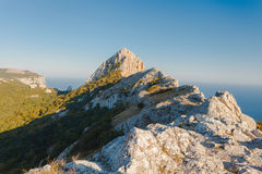 Summer mountain landscape Crimea, Russia. Ukraine Royalty Free Stock Photos
