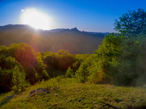 Summer mountain landscape in Crimea Royalty Free Stock Images