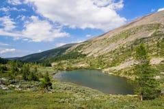 Summer Mountain Landscape: Deep Cold Tarn. (Karakolsky Lakes, Altai Royalty Free Stock Photo
