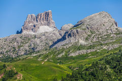 Summer mountain landscape - Dolomites, Italy. Amazing view of the Dolomites - Italy Royalty Free Stock Images