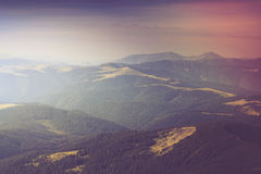 Summer mountain landscape. Filtered image:cross processed vintage effect Royalty Free Stock Photography