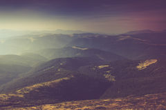Summer mountain landscape. Filtered image:cross processed vintage effect Stock Photography