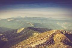 Summer mountain landscape. Filtered image:cross processed vintage effect Stock Images