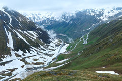 Summer mountain landscape (Furka Pass, Switzerland) Royalty Free Stock Images