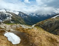 Summer mountain landscape (Grimsel Pass, Switzerland) Royalty Free Stock Images