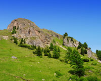 Summer mountain landscape in Italian Dolomites Royalty Free Stock Photography