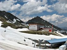 Summer mountain landscape on the Kitzsteinhorn Glacier Royalty Free Stock Photo