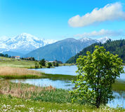 Summer mountain landscape with lake Italy Royalty Free Stock Images