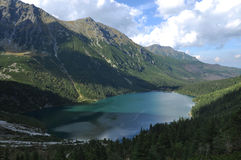 Summer mountain landscape. In the Polish Tatry, Morskie Oko stock image