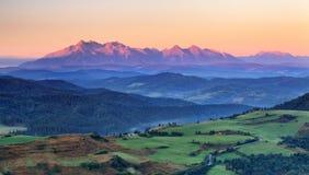 Summer mountain landscape in Slovakia Stock Photo