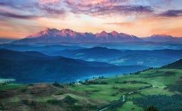 Summer mountain landscape in Slovakia Royalty Free Stock Photo