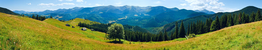 Summer mountain panorama Stock Images