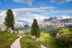 Summer mountain panorama. Dolomites Alps, Italy royalty free stock images