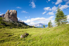 Summer mountain panorama. Dolomites Alps, Italy stock photography
