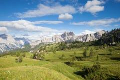 Summer mountain panorama. Dolomites Alps, Italy royalty free stock photo