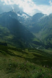 Summer mountain peaks of the Alps mountains Royalty Free Stock Photos