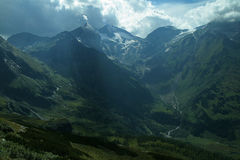 Summer mountain peaks of the Alps mountains Royalty Free Stock Image