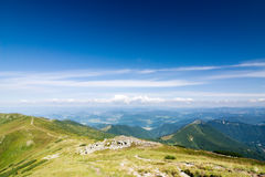 Summer mountain ridge Stock Images