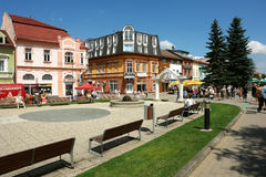 Summer in mountain town of Slovakia. Stock Image
