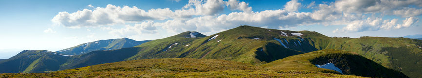 Summer mountain view Royalty Free Stock Photography