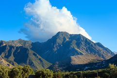 Summer mountain view from Borsh, Albania Royalty Free Stock Photo
