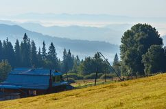 Summer mountain view Carpathian, Ukraine. Stock Image
