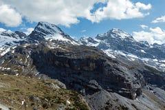 Summer mountain view from Stelvio pass (Italy) Royalty Free Stock Photos
