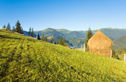 Summer mountain village outskirts Stock Photography