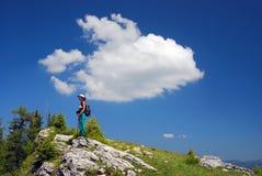 Summer mountaineering royalty free stock photo