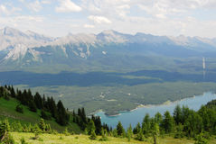 Summer mountains and lake Royalty Free Stock Photos