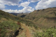 Summer Mountains in Lesotho, seen on a hike near the Maliba Lodge Royalty Free Stock Photos