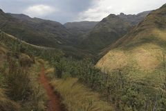 Summer Mountains in Lesotho, seen on a hike near the Maliba Lodge Stock Images