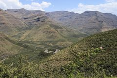 Summer Mountains in Lesotho, seen from the Maliba Lodge Royalty Free Stock Photography