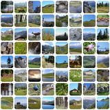 Summer mountains mosaique Stock Images
