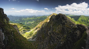 Summer mountains panorama Stock Photo