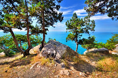 Summer in the mountains to the sea Royalty Free Stock Photography