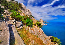 Summer in the mountains to the sea Royalty Free Stock Photo